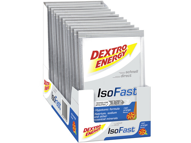 Dextro Energy IsoFast Carbo Mineral Drink Box 12x56g, Red Orange